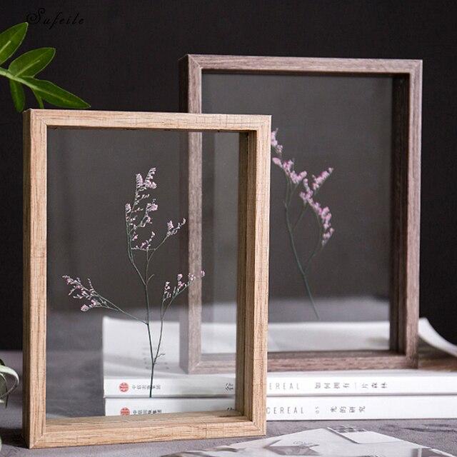 094c6f7e554bca Sprawdź cenę SUFEILE HD szkło wzór ramka na zdjęcia DIY roślin ...