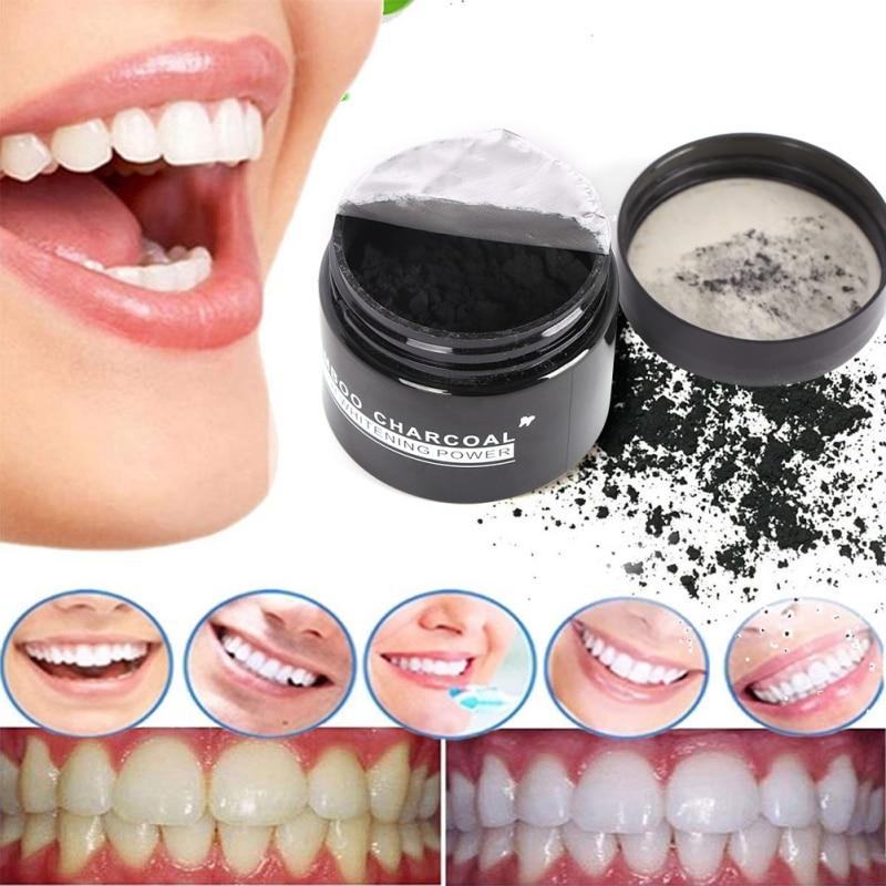 20g aktivované uhlíkové zuby bělení organické přírodní - Ústní hygiena