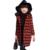 Niñas Abrigos de Lana a cuadros de Moda Abrigo de Invierno Chaquetas con Capucha Para Niños Al Aire Libre 110-160 cm de Vestir Exteriores de Lana