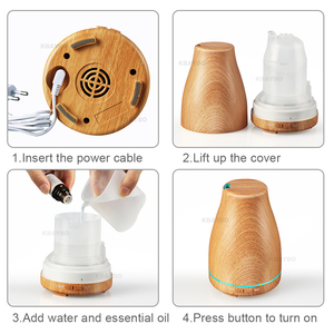 Image 5 - KBAYBO 120ml Aroma Essential Oil Diffuser Ultrasonic Air Humidifier with Wood Grain
