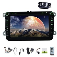Free Rear Camera Android 4.4 Car DVD Player for VW/GOLF/BORA/PASSAT/CC etc Car Radio Stereo Support Bluetooth OBD2 Canbus