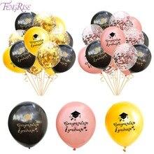 Fengrise Graduation Balloons 2019 Balloon Party Decor Gold Baloons Confetti Ballon Congratulations