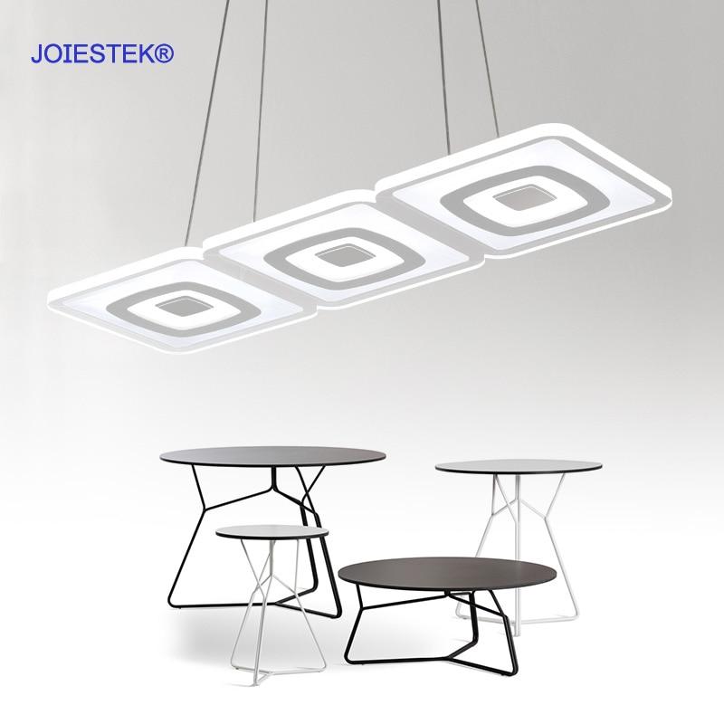 modern led ultra thin chandelier for dining room restaurant kitchen