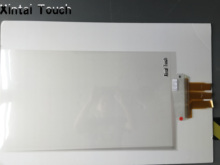 Best price 40″ interactive touch foil film,transparent touch screen film through LCD or projector (window shop display)