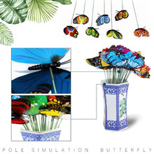 on Sticks Lawn Decoration Creative 3D Garden Ornament for Butterfly Garden Decor Lawn Craft Grassland for Outdoor Artificial(China)