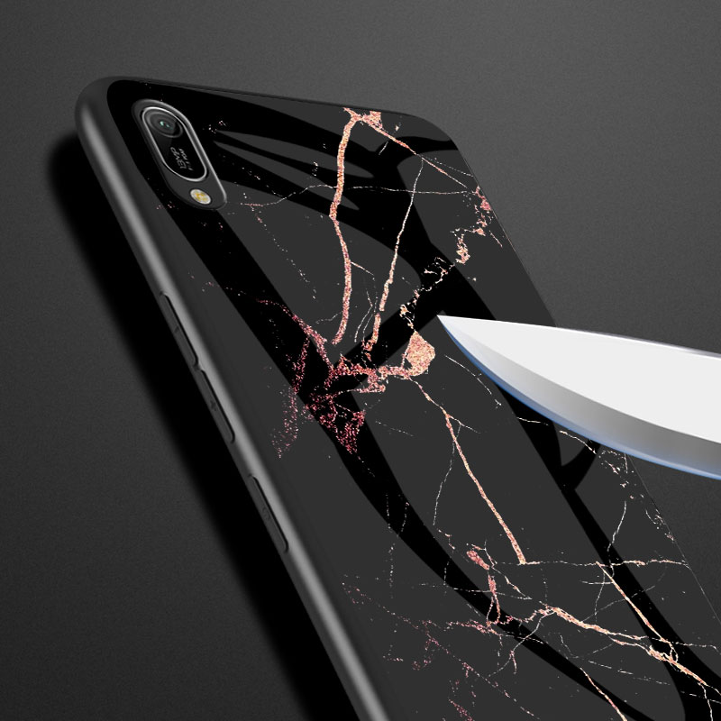 Image 4 - Luxury Marble Tempered Glass Phone Case For Huawei Honor 7C 7A Pro 7S Y7 Y6 Y5 Prime Y9 2018 Case For P Smart Y7 Pro 2019 Cover-in Fitted Cases from Cellphones & Telecommunications