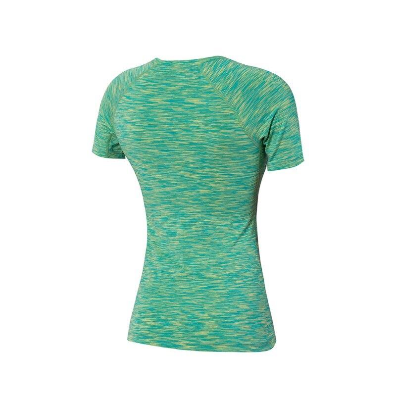 Women Ladies Fitness Runnning Stretch Shirt Camo Print T-Shirt