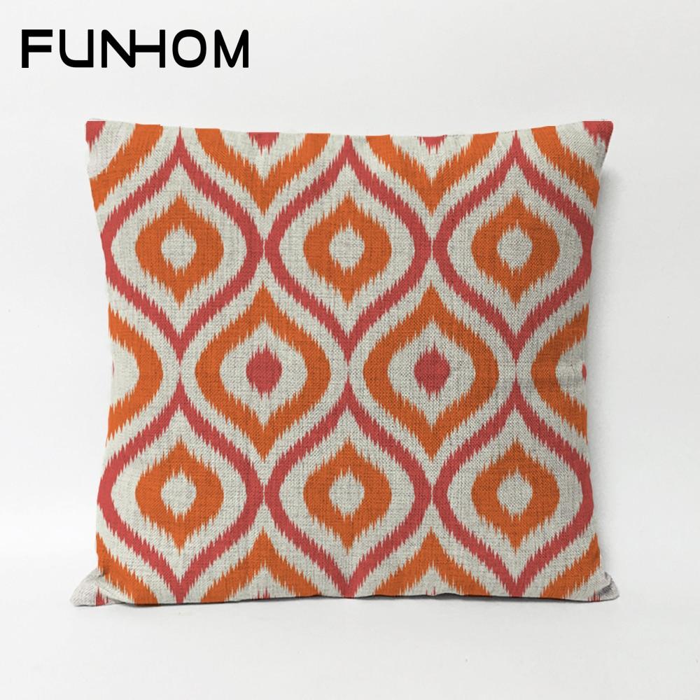 Nordic Modern  Bohemia Geometric Pillow Cushions Lumbar Thick Linen Pillowcase Sofa Cushion Home Decorative Pillows