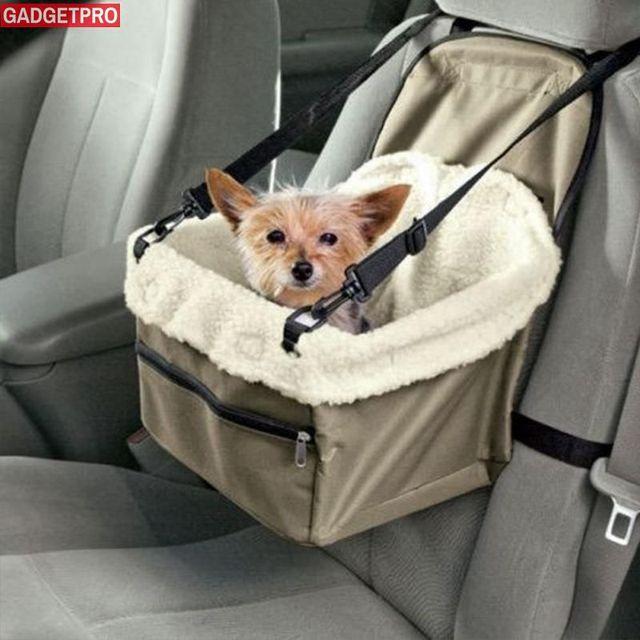 Gadgetpro Car Vehicle Leash Foldable Pet Dog Carrier Bag Seat Cover Cat