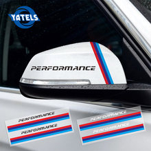 Multi Car-Styling M performance Rearview Mirror Sticker Decal For BMW e46 e39 e36 e90 e60 f30 e34 f10 X1 X3 X5 X6 accessories(China)