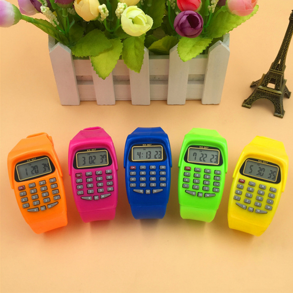 NOYOKERE Multifunction  Digital Calculator With LED Watch Function Casual Silicone Sports For Kids Children CalculatingNOYOKERE Multifunction  Digital Calculator With LED Watch Function Casual Silicone Sports For Kids Children Calculating