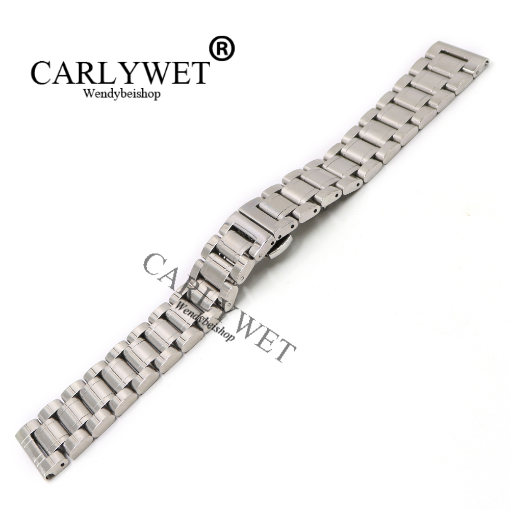 CARLYWET 14 16 18 19 20 21 22 24 26 28 30mm Wholesale Silver Stainless Steel Replacement Wrist Watch Band Bracelet Strap Belt 16 18 20 22 mm silver black gold rose gold ultra thin mesh milanese loop stainless steel bracelet wrist watch band strap belt