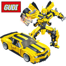 GUDI 2-in-1 Transformation Serie Building Blocks Set Robot Car Truck Model Deformation Toy for Boy Compatible Legoings Kids(China)