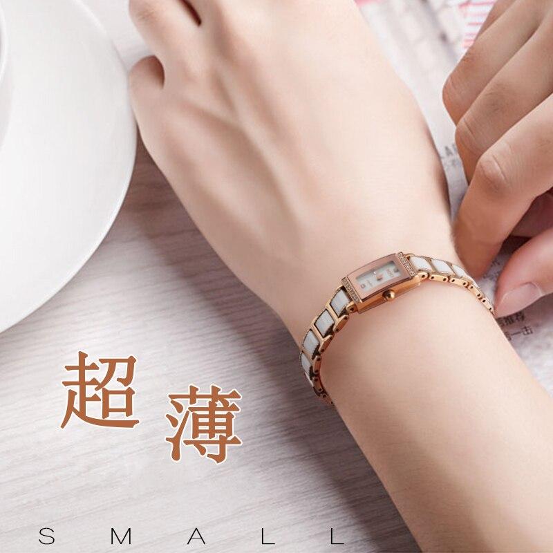 Ultra Small Dial Watch Female Mini Ultra-thin Ceramic Strap Fine Waterproof Korean White Diamond Fashion Trend Small