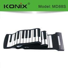 KONIX USB 88 Key MIDI Flexible Silicone Electronic Roll Up Piano MD88S