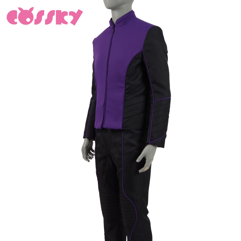 The Orville Planetary Union Uniform Cosplay 2017 Starfleet Duty Outfit Halloween Christmas Costume for Men Purple Costume Suits