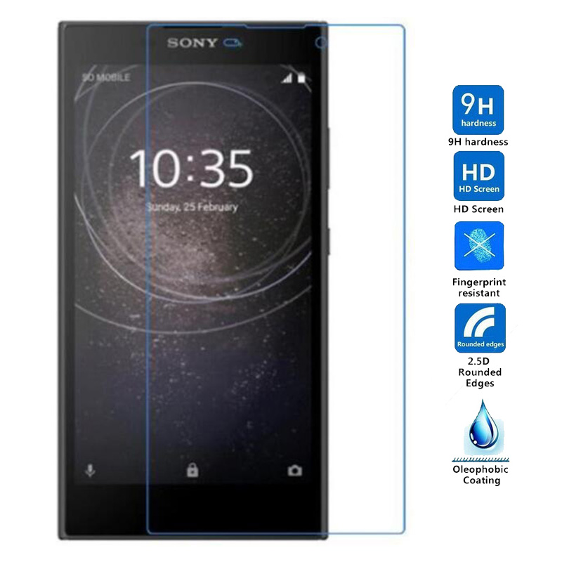For <font><b>Sony</b></font> <font><b>Xperia</b></font> L1 / <font><b>L2</b></font> G3311 G3313 Dual SIM G3312 <font><b>Glass</b></font> 5.5 inch Screen Protector 9H Protective Film Tempered <font><b>Glass</b></font> image