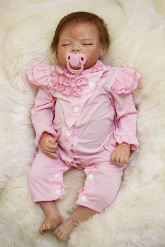 2018 most popular Toys For girls 53 Reborn Silicone Body Baby Dolls Look Like Real sleeping Baby doll Reborn brinquedo menina