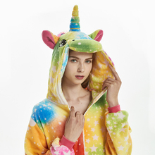 Women's Unicorn Hooded Plush Pajama