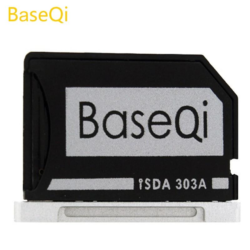 BaseQi de aluminio oculto interior Micro SD adaptador para Macbook Pro Retina 13 modelo 303A lector de tarjeta de memoria