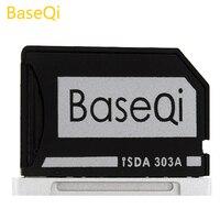 Baseqi Aluminium Tersembunyi Internal Micro SD Adapter untuk MacBook Pro Retina 13 Inci Model 303A Pembaca Kartu Memori
