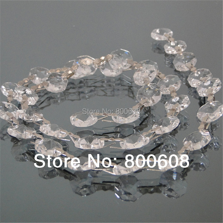 14mm Crystal Octagon Garlands 50meters Lot Aaa Machine