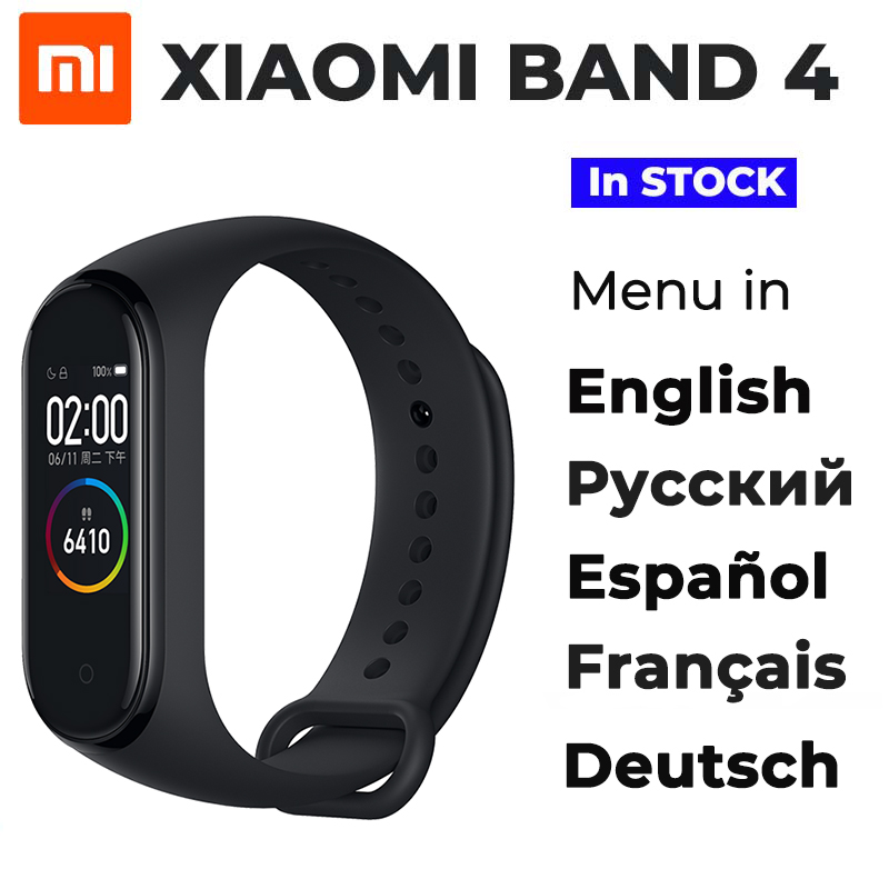 Original 2019 Newest Xiaomi Mi Band 4 Smart Miband 4 Bracelet Heart Rate Fitness 135mAh Color Screen Bluetooth 5.0 цвета apple watch 4