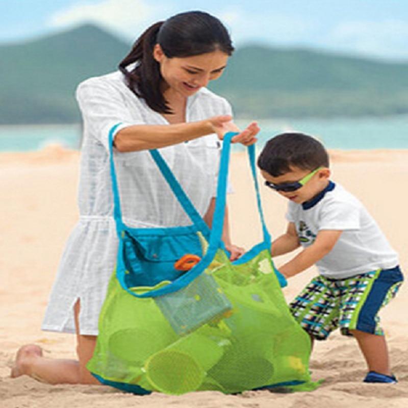 Sport Bag  Baby Folding Beach Mesh Bag Anti Sand Beach Toy Bag Large Capacity Tote Bag Sand Away Portable Children Beach