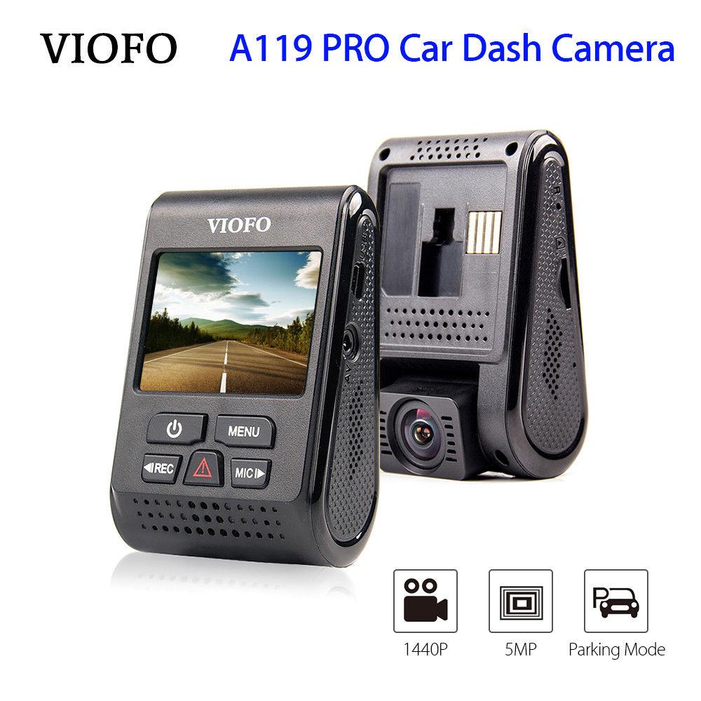 VIOFO A119 PRO 2K HD Car Dash Camera Capacitor Motion Detection 1296P Vehicle Cam