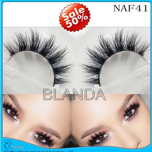 f7edf35f1cf ups free shipping 3d mink lashes eyelash extension 200pair/lot 100%  handmade thick volume long false lash makeup for makeup