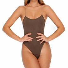 Sexy Women Strappy Backless Bodysuit Black Back Cross Slim