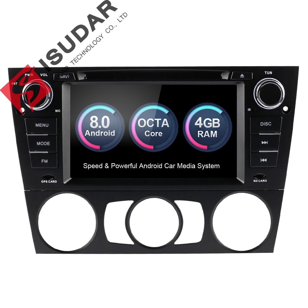Isudar Voiture Multimédia Lecteur GPS Android 8.0 Pour BMW/3 Série E90/E91/E92/E93 Radio capacitif Tactile Écran Arrière vue caméra FM