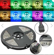 цена на 5M RGB Non-Waterproof 300 LED SMD 5050 LED Strip Light DC 12V  Decoration decoration preferred factory direct