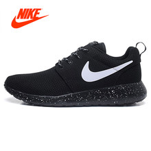 separation shoes 9f3e9 e4ca0 Nike Roshe Run Femmes Chaussures de Course Sports de Plein Air Sneakers  Respirant Confortable Officiel D origine Marque Designer.