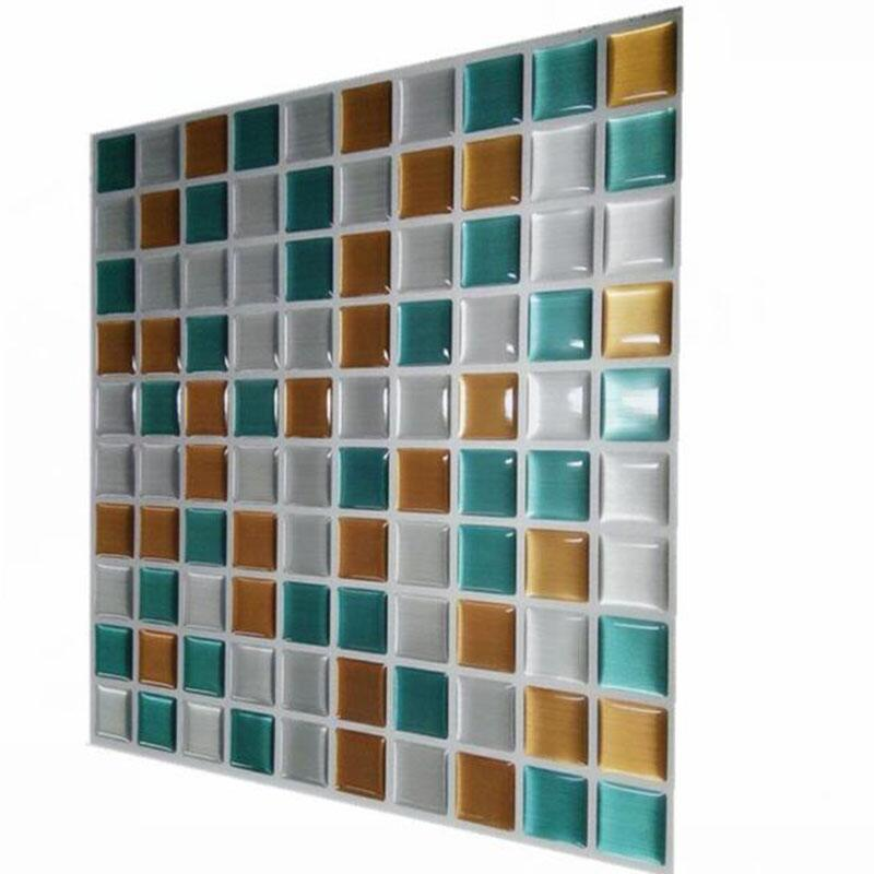 2019 New Trends 20 Pcs Self Adhesive Vinyl Labels Tile Floor 3d Wall Decal Sticker Diy Kitchen Bathroom Decor