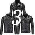 Punk Motor Jacket Motorbike Black Leather Jackets Men Motorcycle Slim Fit Leather Biker Jacket Male Pu Coat