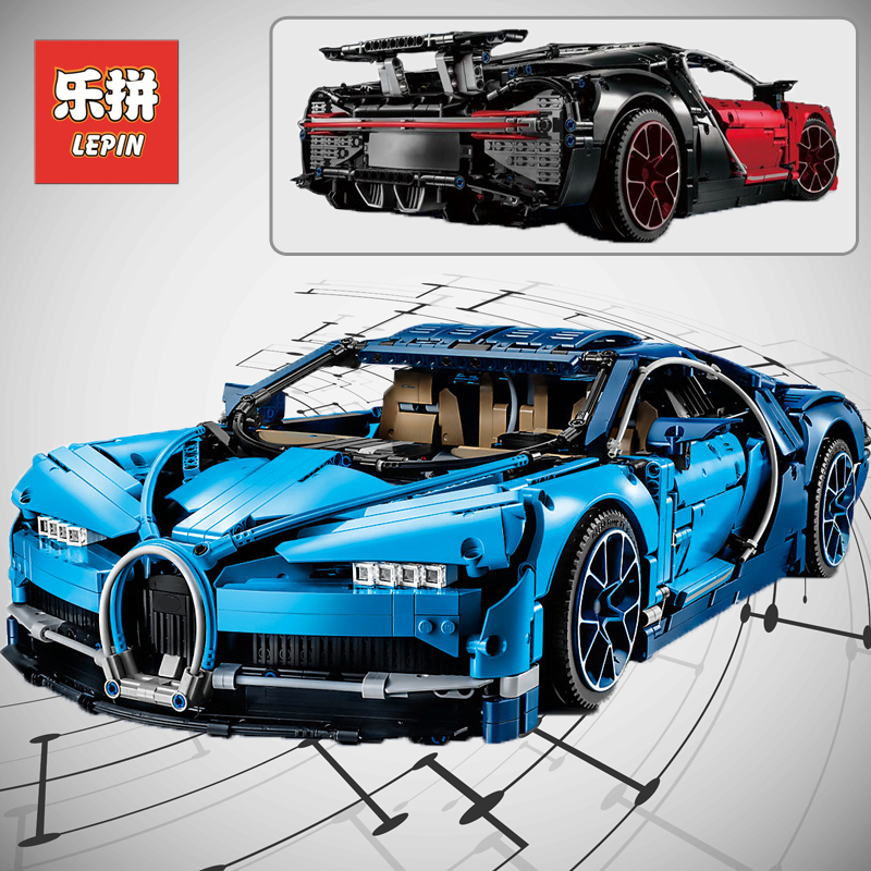 Lepin 20086 20086B 4031Pcs Technic Figure Chiron Racing Car Set Compatible 42083 Model Building Kits Blocks Bricks Boy Toys Gift