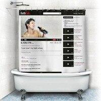 Штора для ванной в стиле YouTube