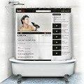 1 unid divertido Cortinas de baño de Tela libro de La Cara Productos de Poliéster Impermeable Cortina cortinas de Baño de YouTube aplicación Social s4