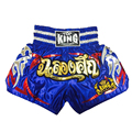 Ebuy360 King Twins Embroidery Muay Thai Boxing Trunks Men Women Mid Waist Elastic Fight Punch Training Boxing Shorts Trousers