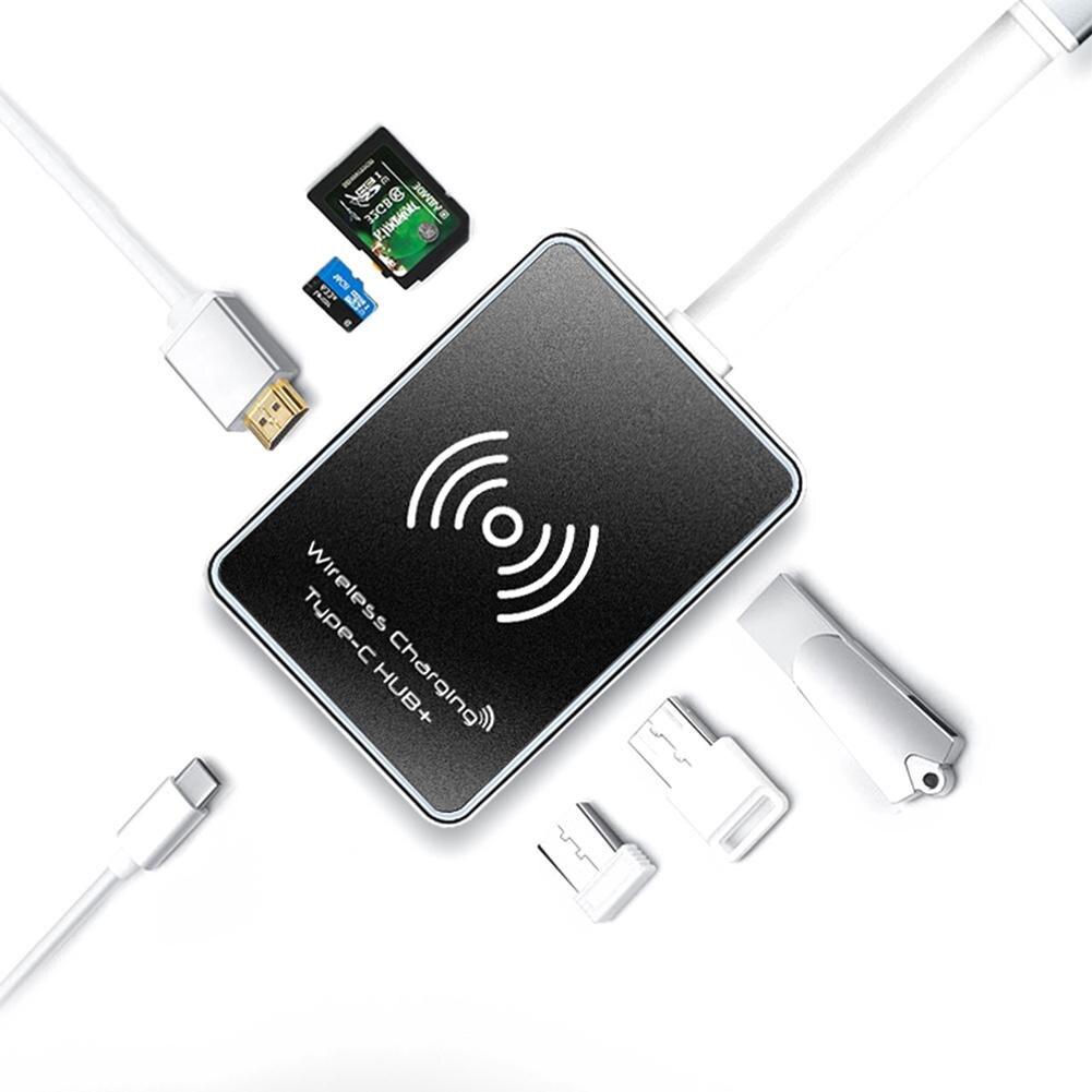 XL916W USB Hub 7 en 1 Interface d'extension multi-fonction lecteur de carte HDMI fenêtre 3 Interface USB