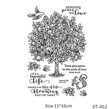 ZhuoAng The magic of nature Transparent and Clear Stamp DIY Scrapbooking Album Card Making Decoration