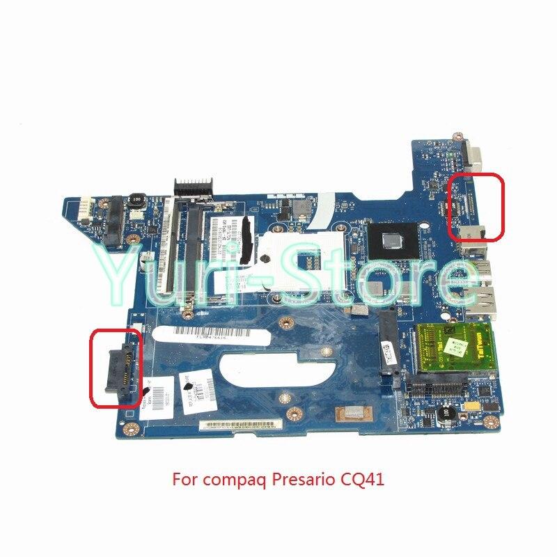 NOKOTION NAL70 LA-4106P For hp compaq Presario CQ41 Laptop motherboard 590330-001 HM55 DDR3 517837 001 motherboard for hp compaq presario cq61 pm45 chipset daoop6mb6d0 tested good