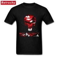 90 S Retro Streetwear Kırmızı Punisher T Gömlek Erkekler giyim Marka Kısa Kollu Genç Guy için T-Shirt Büyük Boy Tee