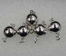 Sterling silver clasp Inserted bar buttons 8mm 10mm round