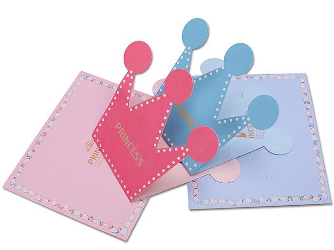 42 43 10 De Descuento Tarjeta De Felicitación Feliz Cumpleaños Día De San Valentín Boda La Princesa Príncipe Corona Forma Invitación Cardsparty