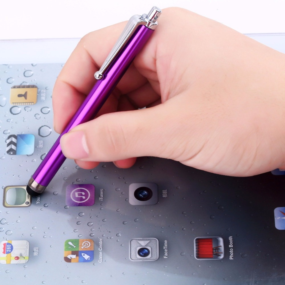 1PCs Round-head design Metal Stylus Touch Screen Glass Lens Digitizer Replacement Pen for iPhone iPad Tablet