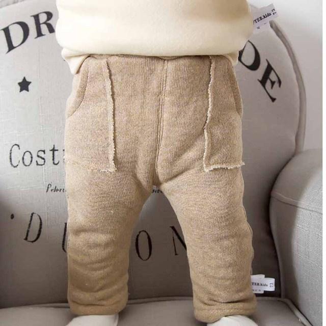 Bebê Meninos Calças Meninas Crianças Calças Do Bebê Roupas de Algodão Do Bebê Calças Compridas Bebê Menina Thicekn Roupas Das Meninas Dos Meninos