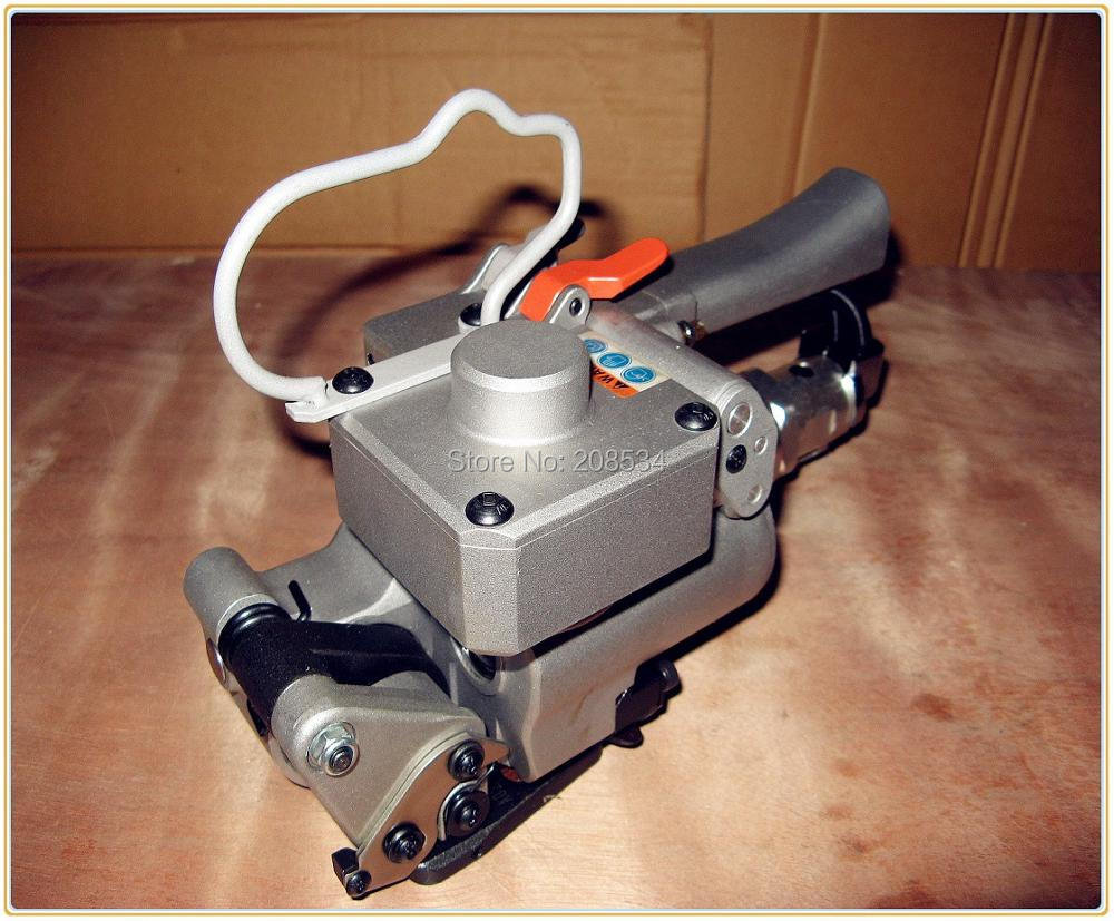 """Nemokamas pristatymas """"Fedex"""" rankinis pneumatinis PET / plastikinis trinties suvirinimo surišimo įrankis XQD-19 13–19 mm PET (""""Polyerster"""") / PP dirželis"""