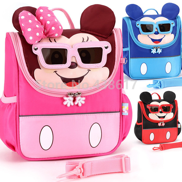 Mickey Minnie Kids Toddler Anti-lost Backpack with Safety Harness Leash Bags  for Girls Boys Kindergarten Preschool School Bag 830891055d4a2